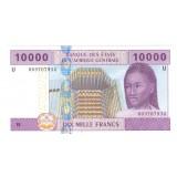 КАМЕРУН (буква U) 10000 ФРАНКОВ КФА, 2002 ГОД