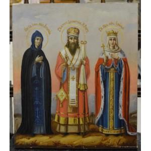 ИКОНА ИЗБРАННЫЕ СВЯТЫЕ (ЕВДОКИЯ, ДИМИТРИЙ, ИРИНА)