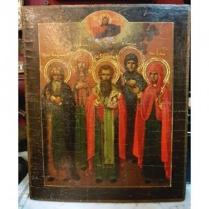 ИКОНА ИЗБРАННЫЕ СВЯТЫЕ (Иларион, Анна, Евгения, Ирина)