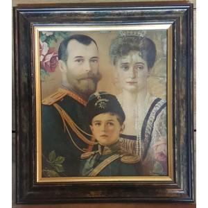 НИКОЛАЙ II, ЦЕСАРЕВИЧ АЛЕКСЕЙ И АЛЕКСАНДРА ФЕДОРОВНА