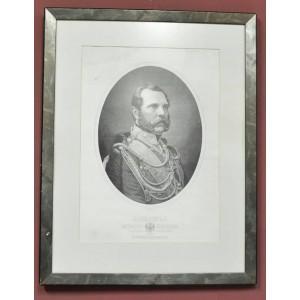 ГРАВЮРА ПОРТРЕТ АЛЕКСАНДР II ГРАВЕР ЕГО ИМПЕРАТОРСКОГО ВЕЛИЧЕСТВА Л. СЕРЯКОВ 1867 ГОД