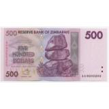 ЗИМБАБВЕ 500 ДОЛЛАРОВ, 2007 ГОД СЕРИЯ АА