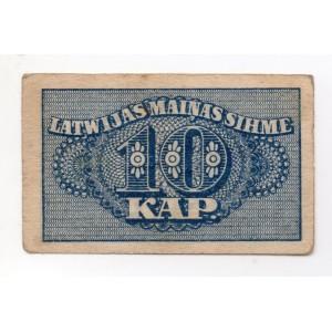 ЛАТВИЯ 10 КОПЕЕК 1920 ГОД