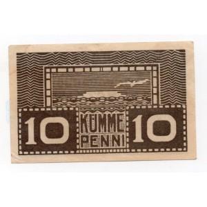 ЭСТОНИЯ 10 ПЕННИ 1919 ГОД