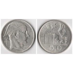 БЕЛЬГИЯ 50 ФРАНКОВ 1951 ГОД