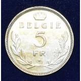 БЕЛЬГИЯ 5 ФРАНКОВ, 1936 ГОД