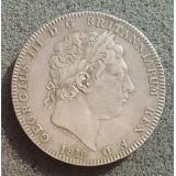 ВЕЛИКОБРИТАНИЯ (БРИТАНСКАЯ ИМПЕРИЯ) 1 КРОНА, 1819 ГОД. ГЕОРГ III