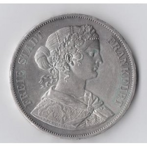 ГЕРМАНИЯ. ФРАНКФУРТ. 2 ТАЛЕРА 1866 ГОД