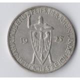 ГЕРМАНИЯ. ВЕЙМАРСКАЯ РЕСПУБЛИКА. 3 МАРКИ 1925 ГОД. 1000-ЛЕТИЕ РЕЙНЛАНДА