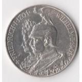 ГЕРМАНИЯ. ПРУССИЯ. 5 МАРОК 1901 ГОД. 200 ЛЕТ ДИНАСТИИ