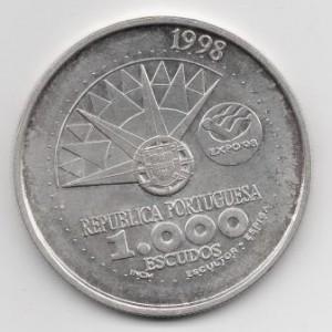 ПОРТУГАЛИЯ. 1000 ЭСКУДО 1998 ГОД. ГОД ОКЕАНА