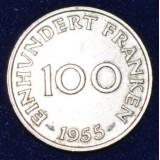 СААРЛАНД 100 ФРАНКОВ, 1955 ГОД