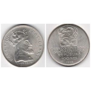 ЧЕХОСЛОВАКИЯ 100 КРОН 1978 ГОД. 600 ЛЕТ СО ДНЯ КАРЛА IV