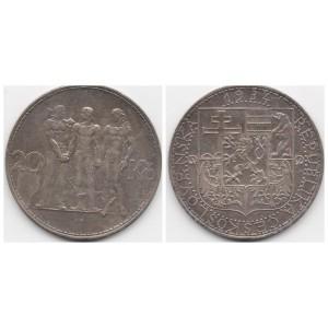 ЧЕХОСЛОВАКИЯ 20 КРОН 1934 ГОД