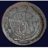РОССИЙСКАЯ ИМПЕРИЯ 5 КОПЕЕК, 1763 ГОД. ММ