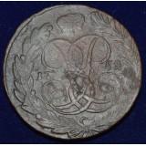 РОССИЙСКАЯ ИМПЕРИЯ 5 КОПЕЕК, 1759 ГОД