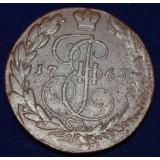 РОССИЙСКАЯ ИМПЕРИЯ 5 КОПЕЕК, 1765 ГОД. ЕМ