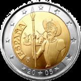 ИСПАНИЯ 2 ЕВРО 2005 ГОД ДОН КИХОТ