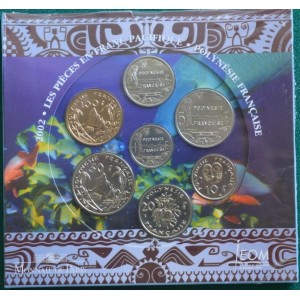 ФРАНЦУЗСКАЯ ПОЛИНЕЗИЯ ОФИЦИАЛЬНЫЙ ГОДОВОЙ НАБОР В БУКЛЕТЕ МОНЕТНОГО ДВОРА 2002 ГОД