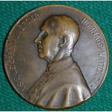 НАСТОЛЬНАЯ МЕДАЛЬ. ФРАНЦИЯ КАРДИНАЛ MERCIER ПЕРВАЯ МИРОВАЯ 1914 ГОД ЗА ПАТРИОТИЗМ И ВЫНОСЛИВОСТЬ