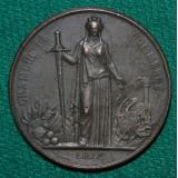 НАСТОЛЬНАЯ МЕДАЛЬ ТОРГОВАЯ ПАЛАТА ЛИЛЛЯ ФРАНЦИЯ 1867